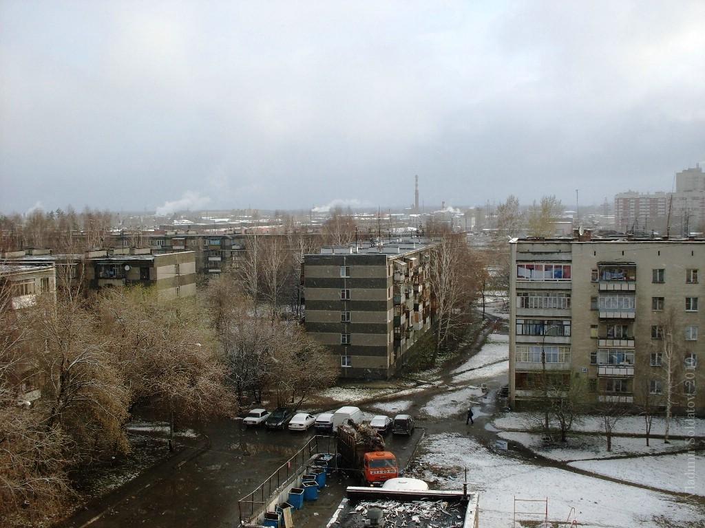 Снег летит с утра